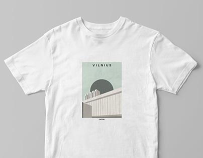 "Lithuanian cities T-shirt designs with ""SHMUTKE"""