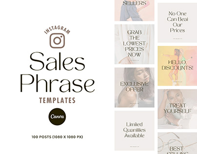 100 Instagram Sales Phrase Templates Canva