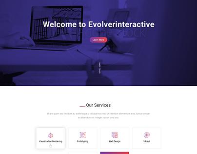 Evolver Interactive - Wordpress Layout