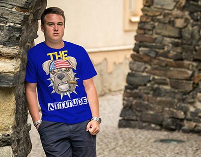 American attitude T-shirt