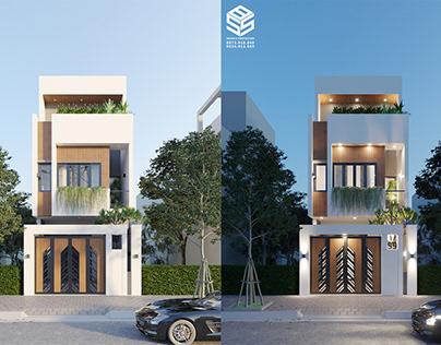 Những mẫu mặt tiền đẹp cho nhà 3 tầng