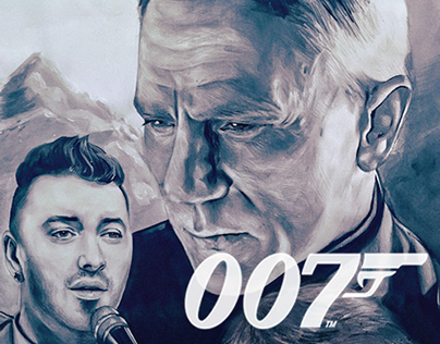 James Bond Spectre & Sam Smith Promotion Poster