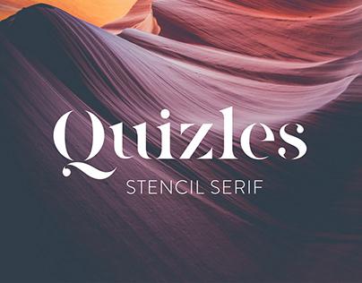 Quizles - Stencil Serif Font