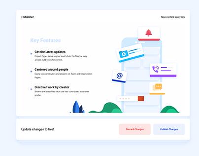 Key Features Web UI Concept V2