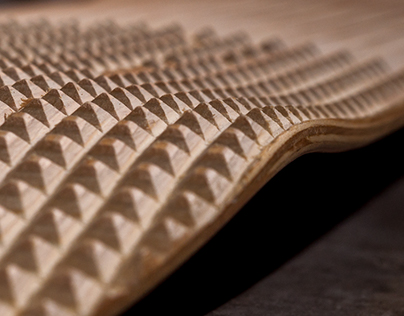 3D Milled Skateboard Deck