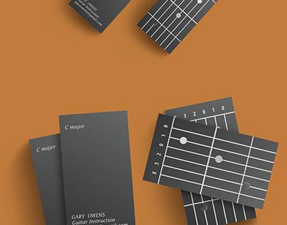 BLACK GUITARIST'S BUSINESS CARD