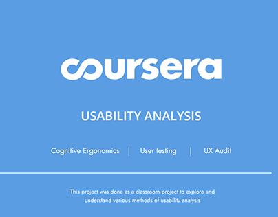Coursera - Usability Analysis