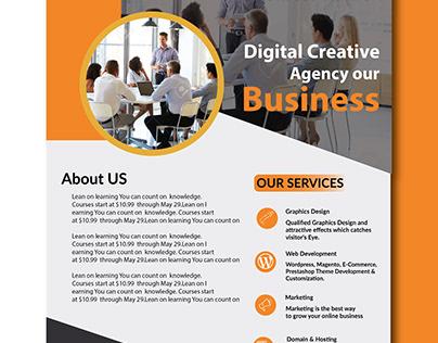company flyer design, Flyer Mockup Free Download