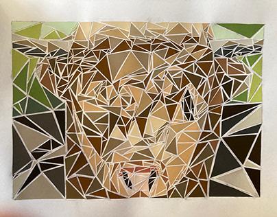 Highland Cow Mosaic