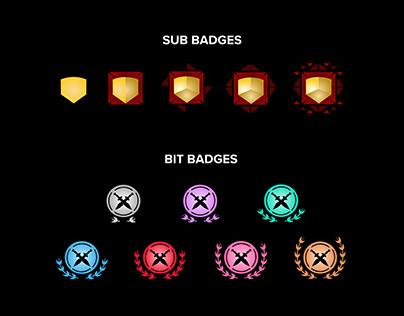 Bit/Sub Badges & Emotes (Illustrator)