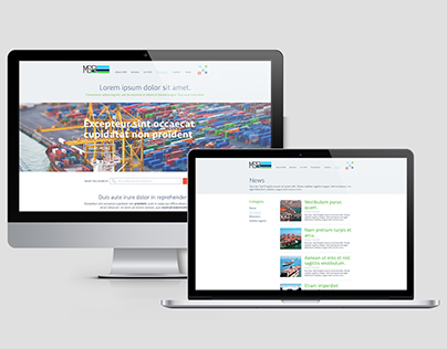 Web site for marine company