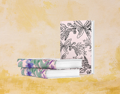 floral and leafy hand made and edited book design