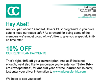Car Insurance Informative Letter