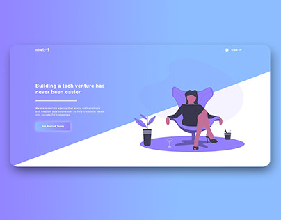 NINETY-9 Venture Agency Web Design made in Webflow