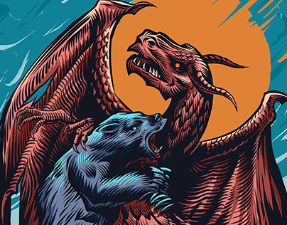 Bear and Dragon fight