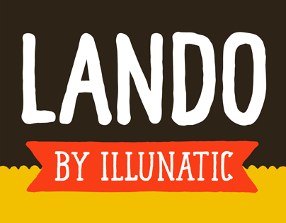 Lando - The Handmade Uppercase Typeface