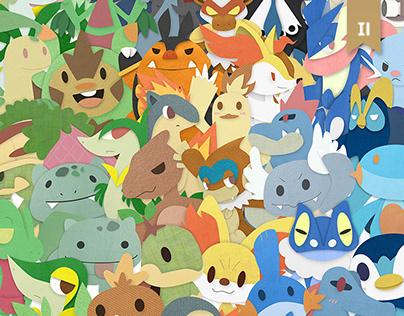 6 Generations of Pokémon starters