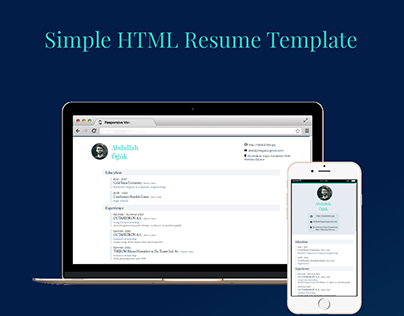 Simple HTML Resume Template