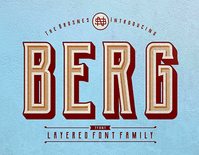 BERG - FREE LAYERED FONT FAMILY