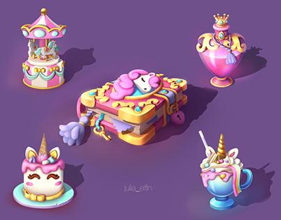 Sweet girl unicorn props