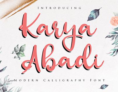 Karya Abadi - Modern Calligraphy Font