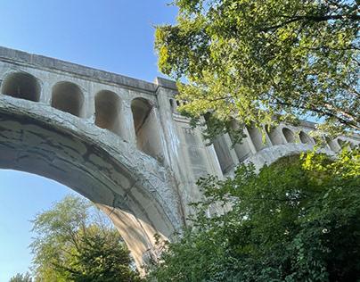Historical bridge off the beaten path.