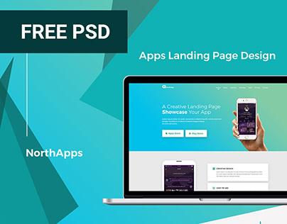 Free Apps Landing Page Design