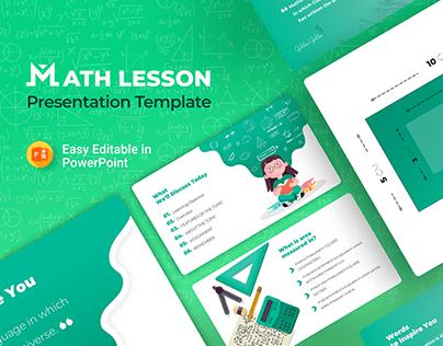 Math Lesson – Mathematics PowerPoint Presentation