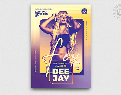 DJ Session Flyer Template V9