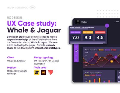 UX Case Study: Whale and Jaguar