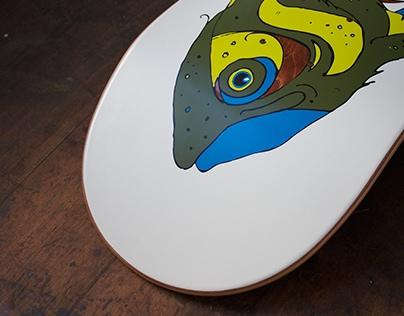 """Skateboard """"Fischstäbchen""""."""