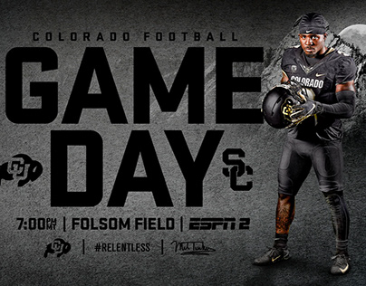Colorado Football | Gameday Graphics