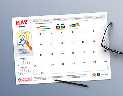 Alliance Desk Calendar