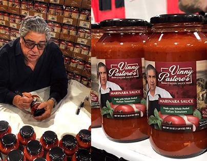 Vinny Pastore's Italian Sauce   Label