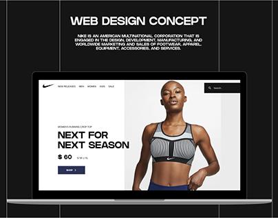 NIKE   Web desing concept