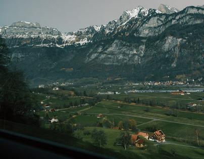 Switzerland Mountain with Winter