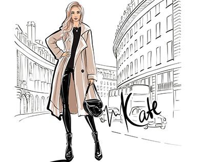 Fashion illustrations sketches