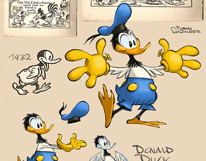 1932 Donald Duck, re-created