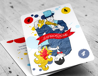 Design of invitations for a magic party