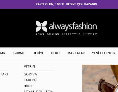 alwaysfashion e-commers web design
