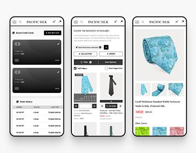 Tie E-Commerce Mobile Version