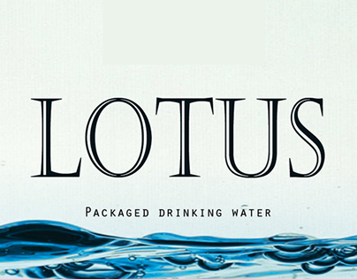 Lotus packaged drinking water