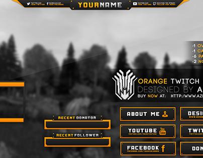 Orange Twitch Design
