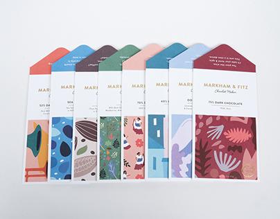 Markham & Fitz Chocolate Bars Packaging