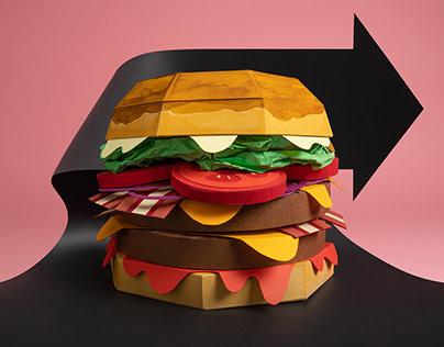 Papercut Hamburger ADV for Pancake