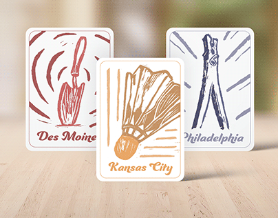 Oldenburg Cards - Block Printing