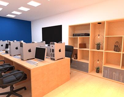 Sala privativa de um espaço de coworkig