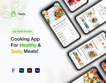 UX UI Design Case Study - Tastic recipe app