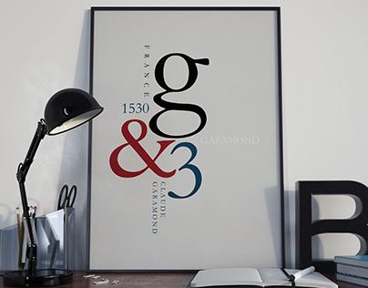 Typographic Poster: Garamond