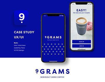 9 GRAMS - Mobile App UX/UI